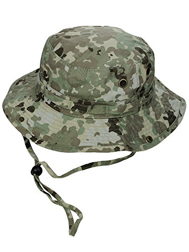 Cotton Chin Cord (MG Men's Washed Cotton Twill Chin Cord Outdoor Hunting Hat, Terrace, L)