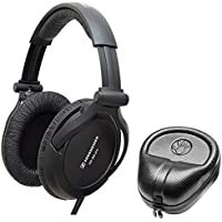 Sennheiser HD 380 Pro Professional Circumaural Monitoring Headphones + SLAPPA SL-HP-07 HardBody PRO Headphone Case