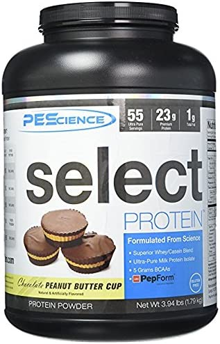 PEScience Select Protein Powder, Chocolate Peanut Butter Cup, 55 Serving, Whey and Casein Blend