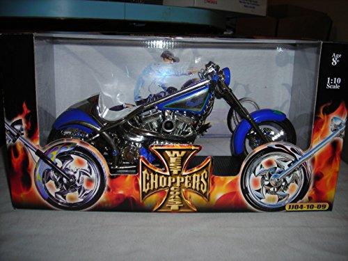 Diablo Chopper (MUSCLE MACHINES CALIFORNIA WEST COAST CHOPPERS SALT FLAT EL DIABLO CUSTOM CHOPPERS JESSE JAMES 1:10 DIECAST MOTORCYCLE)