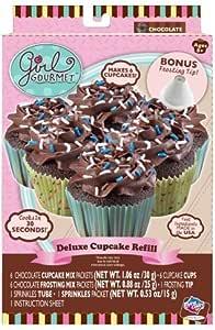 Amazon.com: Girl Gourmet Cupcake Maker Basic Refill Pack - Chocolate: Toys & Games