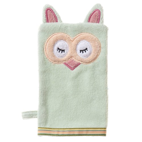 Breganwood Organics Bath Mitt, Sleepy Owl Woodland Collection