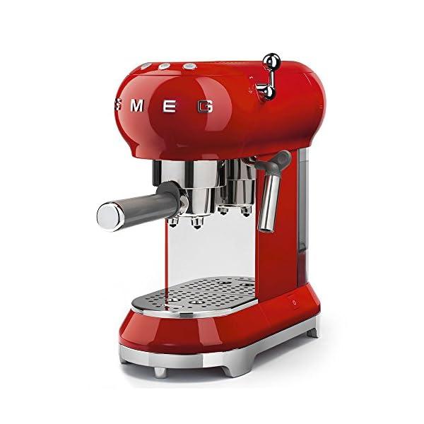 Smeg ECF01RDUS Espresso Coffee Machine, One Size, Red 1
