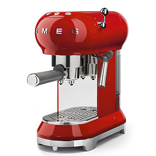 Smeg 50s Style Espresso Machine, Red