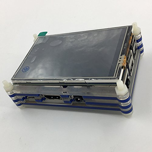 Haiworld RPI Starter Kit For Raspberry Pi 3 b / 2b, 3.5'' TFT TouchScreen + Sliced 9 Layers Case + Heat sinks + 5V 2.5A Power Supply + GPIO Board + Ribbon Cable + Cooling Fan + 150 Mbps WiFi by Haiworld (Image #4)