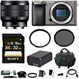 Sony Alpha a6000 Camera Body w/ 10-18mm Lens & Accessory Bundle - Graphite