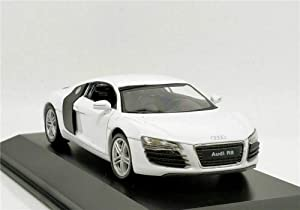 modelcars 1:43 Scale Audi R8 White Diecast Model Sport Racing Car
