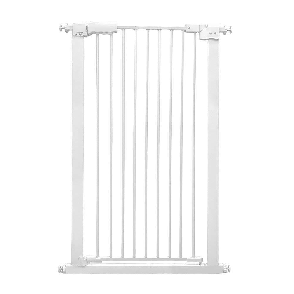 エクストラワイドおよびトールペットゲート、ポータブルホワイトメタルプレッシャーマウント階段ゲート、高さ110cm、幅61-232cm(サイズ:幅209-219cm) Width 149-159cm  B07V967T5Z