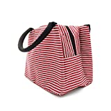 Lunch Bag Insulated Lunch Box LYNOON PU Tote Lunch Organizer Diaper Bag Handbag Large Capacity For Women/Men/Children/Kids/Student