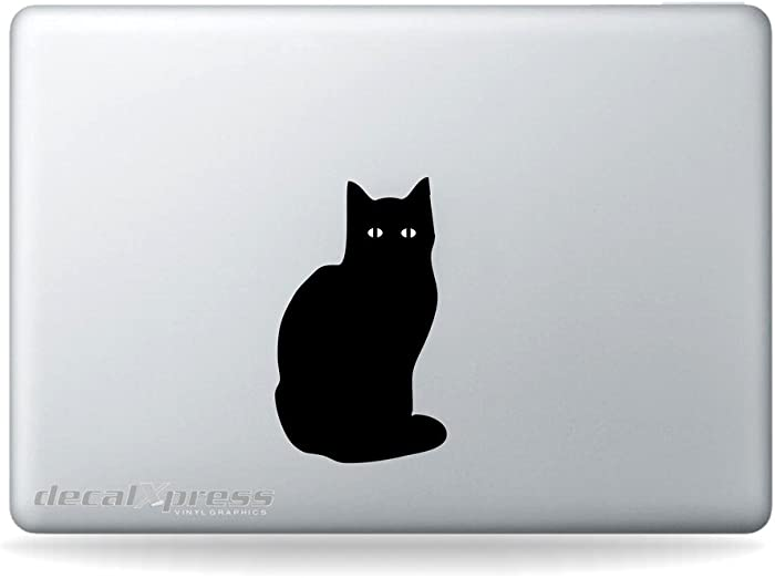 Cat Lightup Eyes- Decal Sticker for MacBook, Air, Pro All Models
