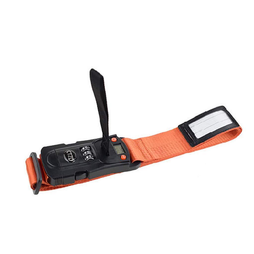 cadenas avec mot de passe Orange Mi Tu P/èse-bagages /électronique avec sangles de verrouillage crois/ées corde demballage de haute qualit/é