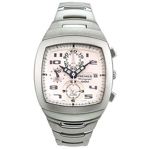 Seiko Men's SNA143 Premier Chronograph (Stainless Steel Premier Dress Watch)