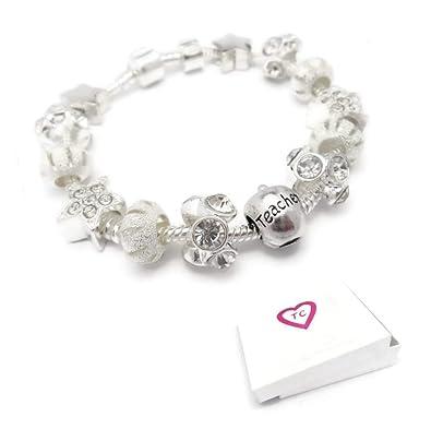 31a2e9b2cb1f Para profesor Star polvo para pulsera tipo Pandora caja de regalo 20 cm   Amazon.es  Joyería