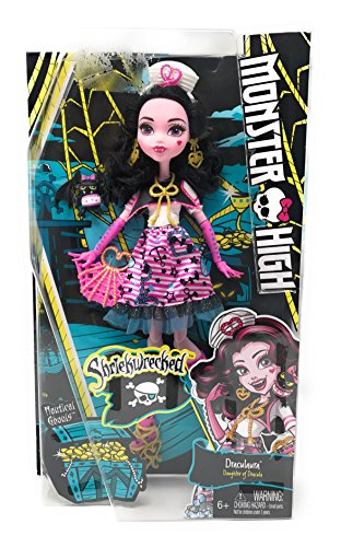 Monster High Shriekwrecked Nautical Ghouls Series 11 Inch Doll Set - Daughter of Dracula DRACULAURA with Pet Count Fabulous and (Dracula Pocket Princess Costumes)