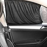CALAP-STORE - Black Car Styling Car Curtains Car Sun Shade Interior Accessories Sunshade UV Protection For Side Window