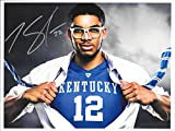 Karl-Anthony Towns - Signed 8½x11 UK Wildcats Superman Photo w/ COA