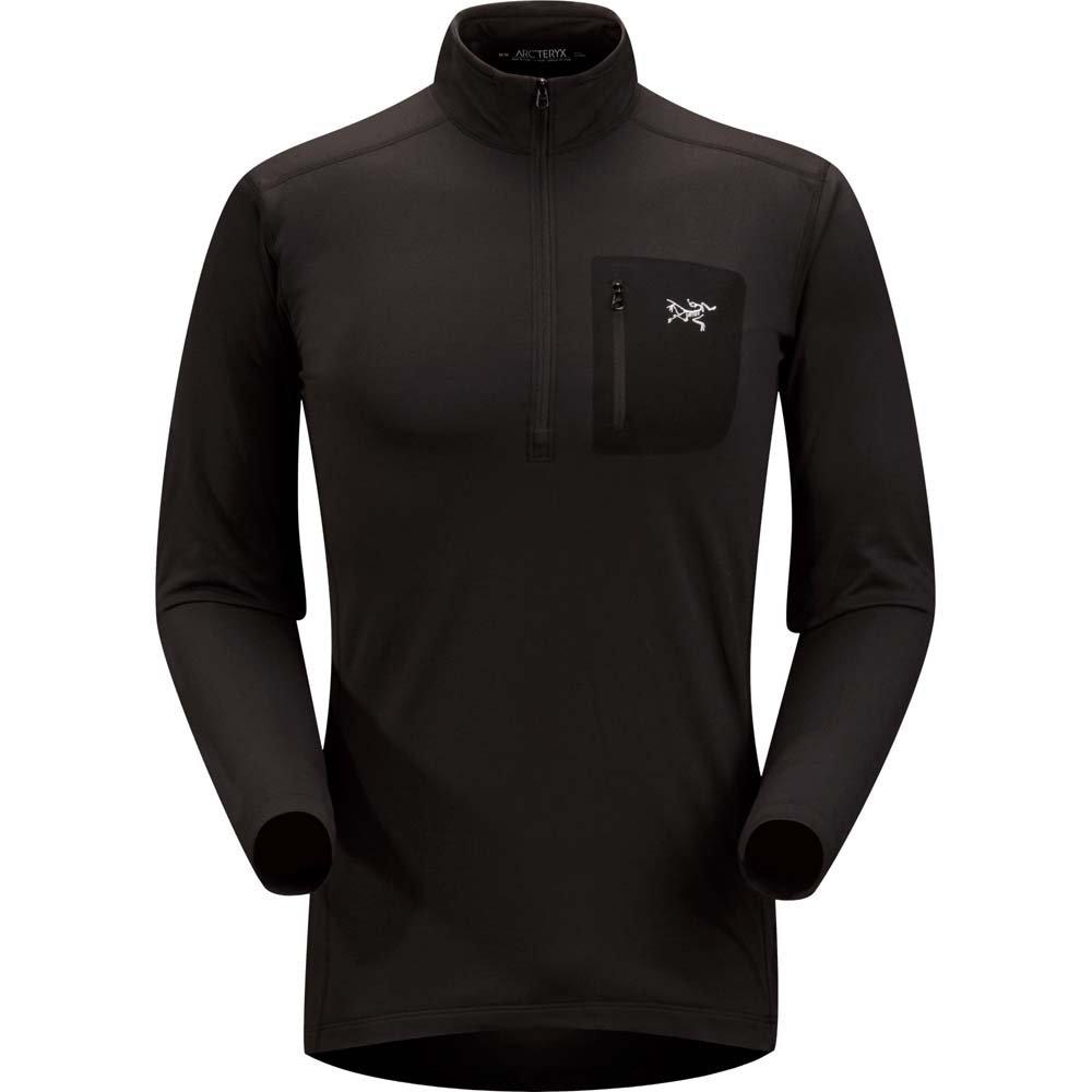 ARC'TERYX Rho LT Zip Neck Men's (Black, Medium)