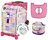 Zuca Sport Bag -Patchwork with Gift Lunchbox and Seat Cover (Pink Frame)
