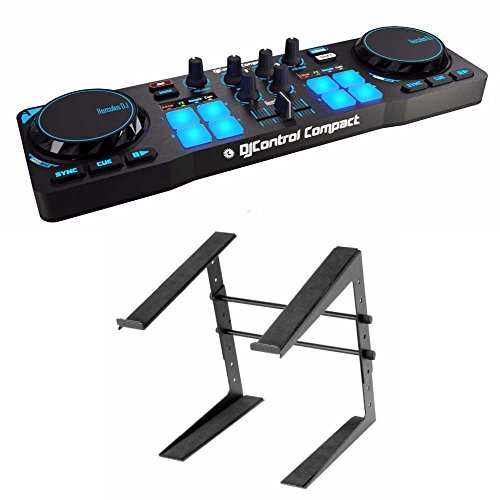 Hercules DJControl Compact super-mobile USB Controller Computer Laptop Stand by Hercules