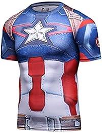Men's Compression Sports Fitness Shirt, Armor America Teamleader T-Shirt