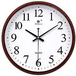 HYLH-H Wall Clock12-Inch Modern Silent Wall Clock Pendulum Clock Ticks Without Ticks High-Precision Radio