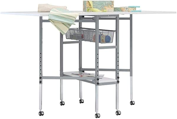 Sew Ready Height Adjustable, Quilting Fabric Cutting Folding Table