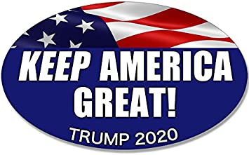 Keep America Great 3 Oval Bumper Sticker Decal 2020 United States Presidential Election Candidate GOP Adelia Co 6.5 x 4.5 Donald Trump