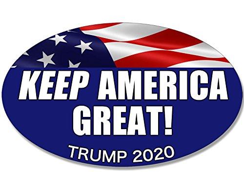 Oval Keep America Great Sticker Donald Trump 2020 20 pro Bumper