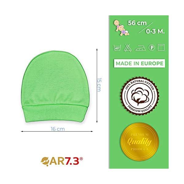 QAR7.3 Completo Vestiti Neonato 0-3 mesi - Set Regalo, Corredino da 5 pezzi: Body, Pigiama, Bavaglino e Cuffietta (Verde… 6