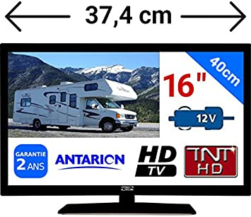 Televisor TDT HD LED de 16 pulgadas (aprox. 40 cm), 24: Amazon ...