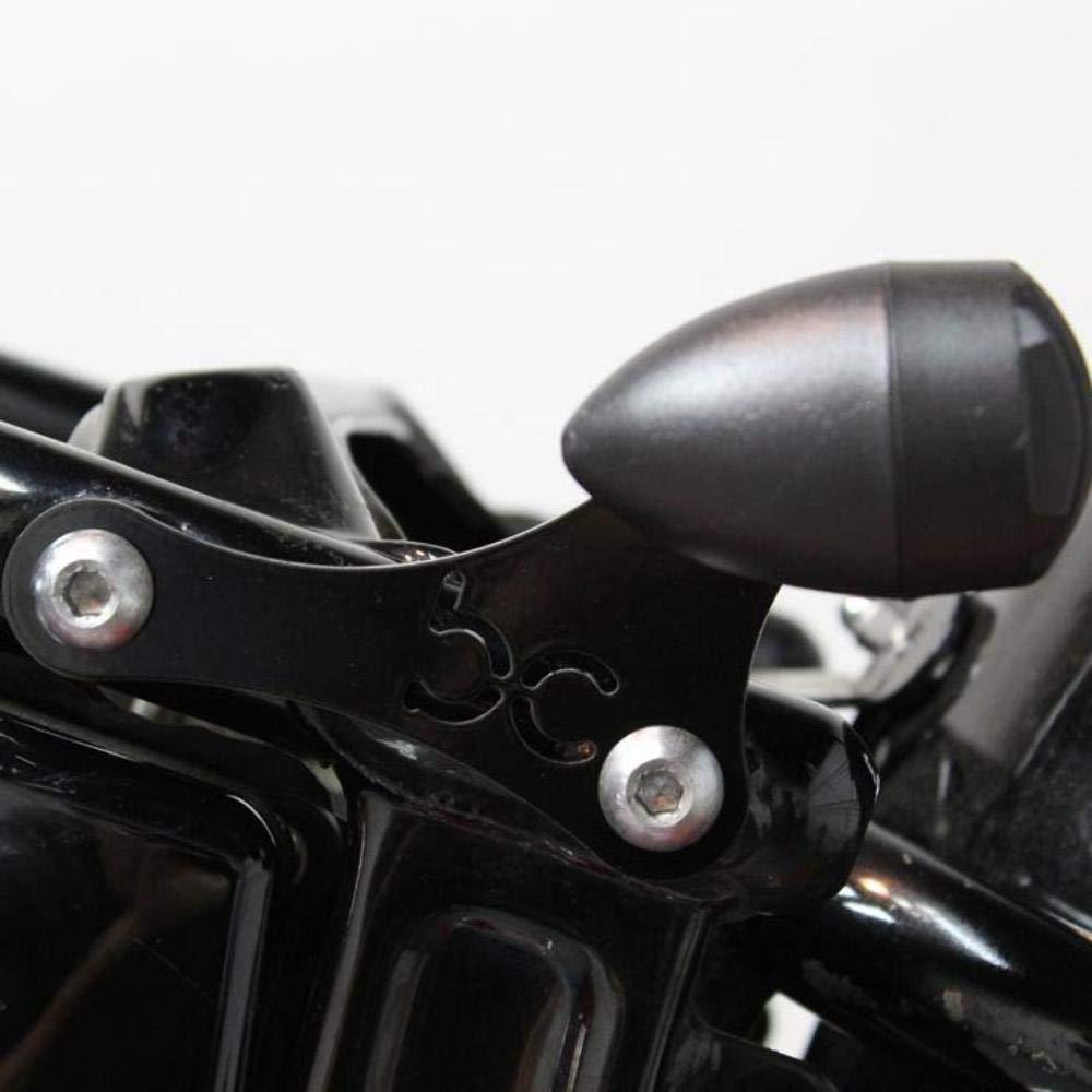 BobberCycle Custom Matte-Black Finned Grill Bobber Turn Signals 2pc