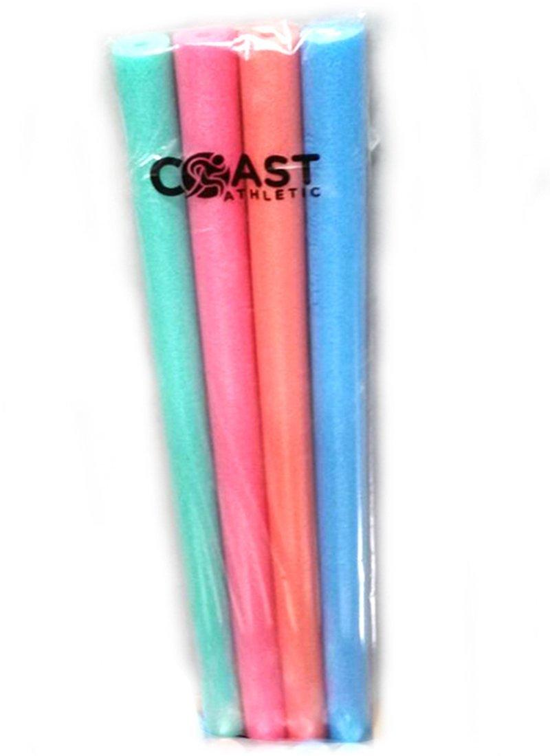 Coast Athletic CA8700 Famous Foam Pool Noodles, 4 Piece 4 Piece Green