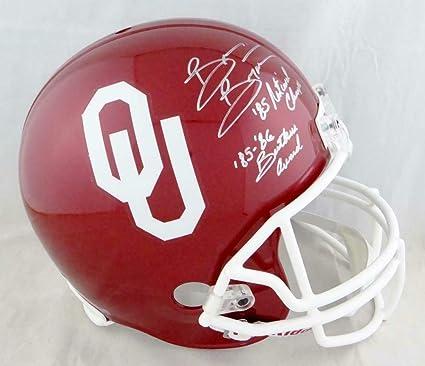 Adrian Peterson Autographed Oklahoma Sooners Schutt Mini Helmet JSA W Auth *S