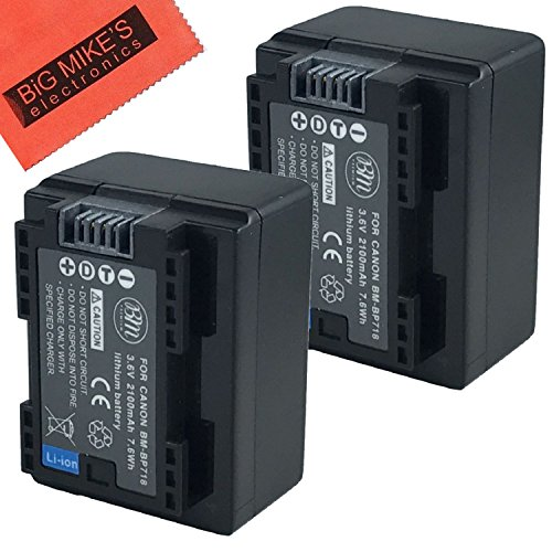 (BM Premium 2 BP-718 Batteries for Canon Vixia HFR80, HFR82, HFR800, HFR70, HFR72, HFR700, HFR30, HFR32, HFR300, HFR40, HFR42, HFR400, HFR50, HFR52, HFR500, HFR60, HFR62, HFR600, HFM50 ,HFM52, HFM500)
