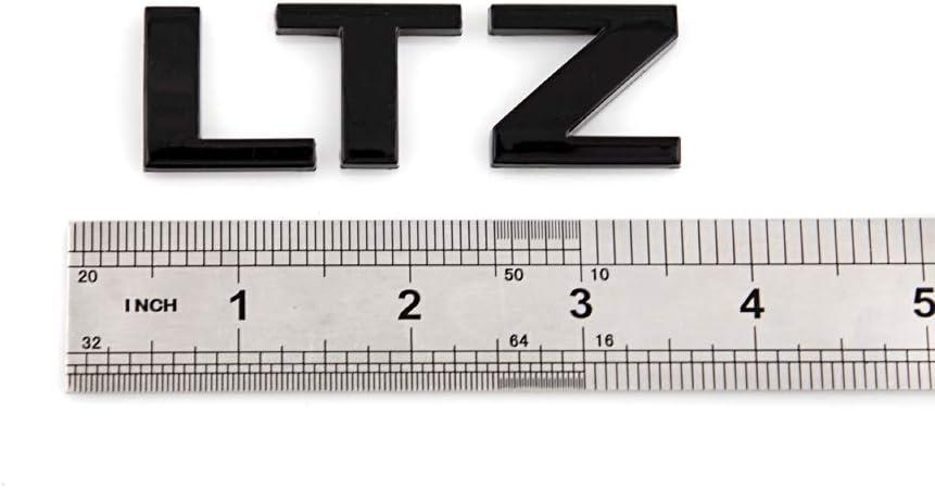 Matte Black 2X LTZ Emblem Premium Car Body Side Decals Replacement For Silverado 1500 2500Hd 3500Hd Series