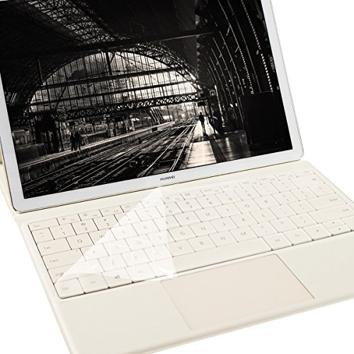kwmobile Rugged, Ultra-Thin Keyboard Protector QWERTY (US) Silicone for Huawei MateBook in Transparent - Effective Protection from Dirt