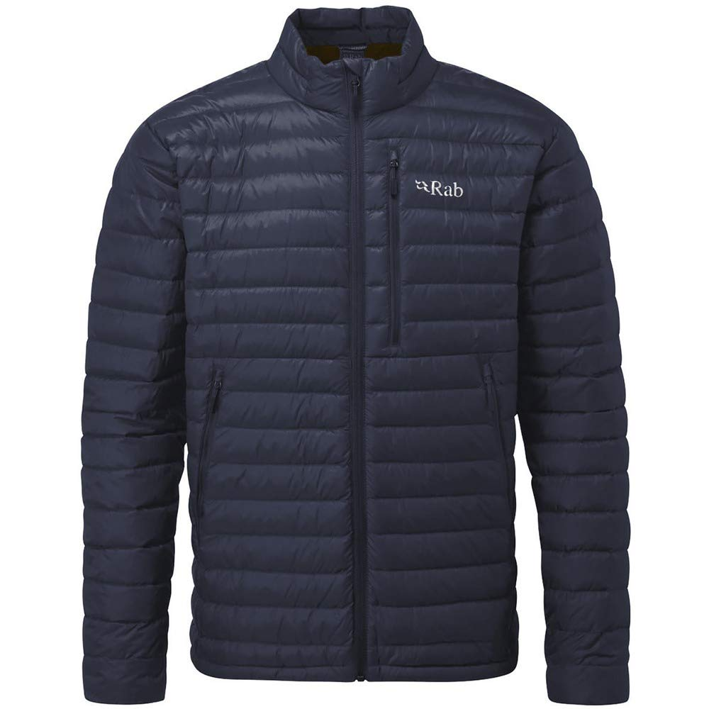 RAB Mens Microlight Jacket DEEP Ink/Footprint (Medium)