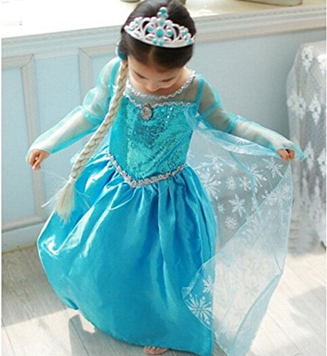 [Sasha Kids Princess Inspired Girls Party Costume (4-5 Years)] (Halloween Princess Costumes For Kids)