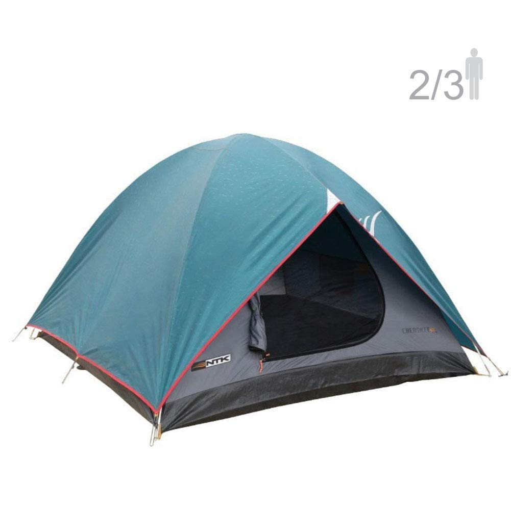 NTK Cherokee GT 2 to 3 Person 7 by 5 Foot Sport Camping Dome Tent 100 Waterproof 2500mm