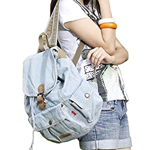 Women's And Girl's Denim Backpack School Bag Travel Bag Shoulder Bag