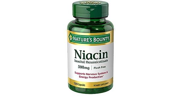 Natures Bounty - niacina Inositol Hexanicotinate 500 mg. - 120 cápsulas: Amazon.es: Salud y cuidado personal