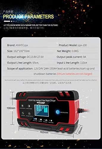 Motorr/äder Boote Gel/ändefahrzeuge Wohnmobile LED-Anzeige und Touchscreen-Taste Autobatterieladeger/ät f/ür Automobile 3T6B Batterie Ladeger/ät Autobatterie 12V//24V Intelligente Mehrfachautomatik