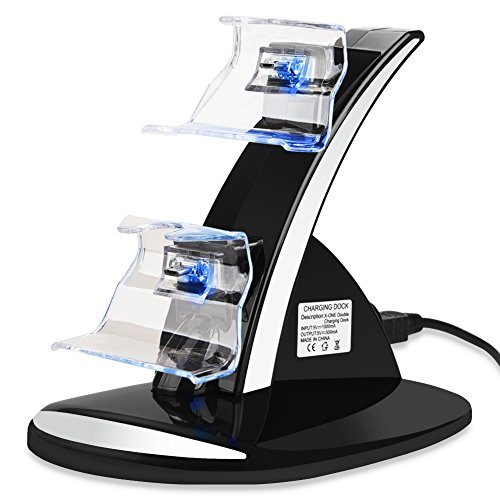 Controller Charger, Aiguozer Xbox One / One X / One S Controller Dual Docking Charging Station Stand