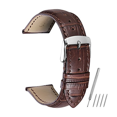 - Watch Band 14mm 16mm 18mm 19mm 20mm 21mm 22mm 24mm Genuine Calf Leather Strap Replacement Silver/Gold/Rose Gold Clasp CHIMAERA
