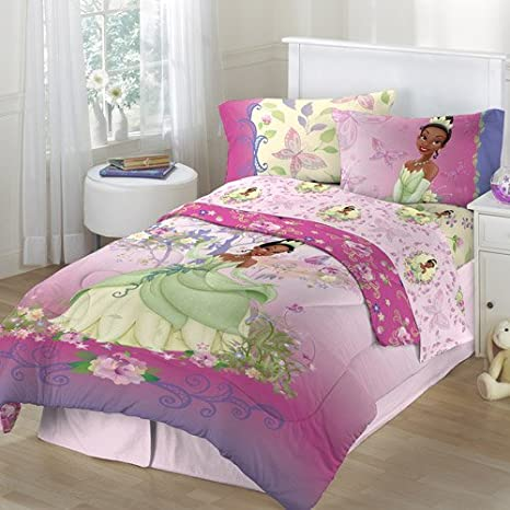 Amazon Com Disney Princess And The Frog 4pc Twin Comforter And