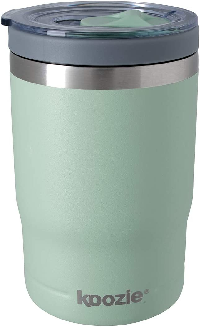 Koozie Stainless Steel Double Wall Vacuum Insulated Triple Can Cooler, Bottle or Tumbler - 12 oz. (Matte Sage)