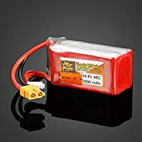 New ZOP Power 14.8V 1500mAh 4S 45C Lipo Battery XT60 Plug By KTOY