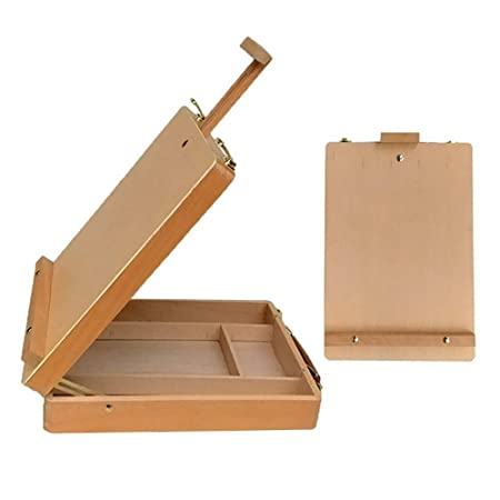 AWENAXZ Caja de Paleta de Pintura Pintura Pintura Portátil Mesa de ...