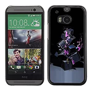 LECELL -- Funda protectora / Cubierta / Piel For HTC One M8 -- Abstract Lonely --