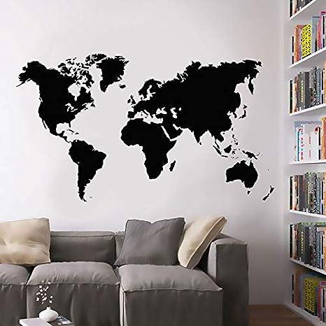 Mapa del mundo grande vinilo tatuajes de pared National Geographic ...